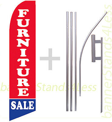 Furniture Sale - Swooper Flag 15 Kit Feather Flutter Tall Banner Sign - Rb