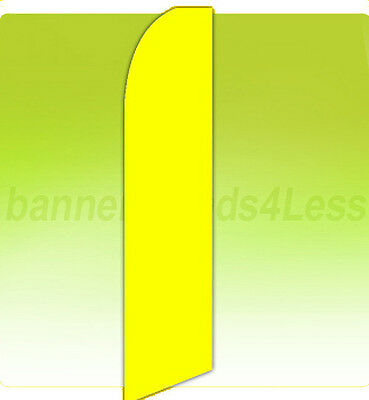 Yellow Solid Color Swooper Flag Feather Flutter Banner Sign 11.5 - Yb