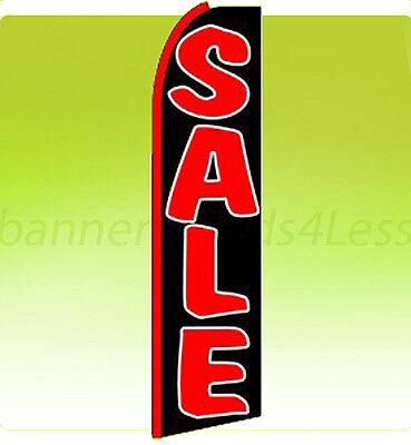 Sale Swooper Flag Feather Flutter Banner Sign 11.5 - Black Kq