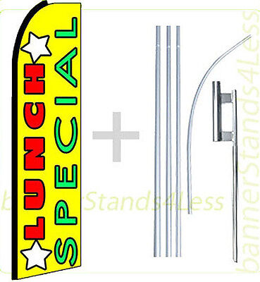 Lunch Special Swooper Flag Kit Feather Flutter Banner Sign 15 Set - Yq