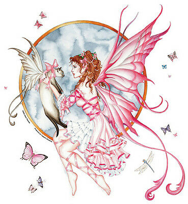 THE GIFT Large Fairy & Cat Sticker Car Decal Nene Thomas faery faerie kitty