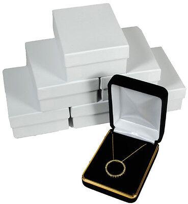 6 Piece Black Velvet Necklace Earrings Jewelry Gift Box 2 14 X 3 X 1 14h