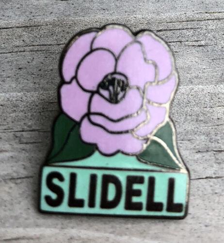 VTG Slidell LA Lapel Pin - Camellia - Louisiana St. Tammany Parish Souvenir