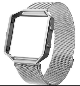 Fitbit Blaze Band + Frame Large Milanese Loop Stainless Steel