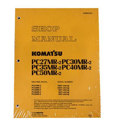 Komatsu Pc27mr-2 Pc30mr-2 Pc35mr-2 Excavator Service Repair Manual Sebm032405