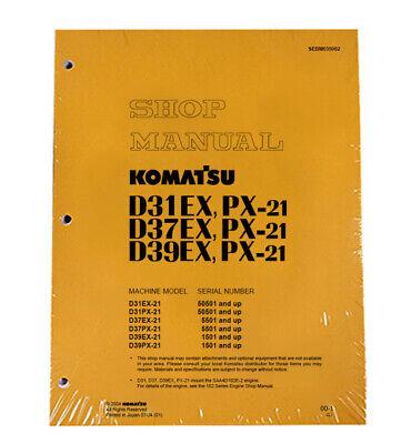 Komatsu D31ex Dozer Service Shop Repair Manual - Part Number Sebd035002