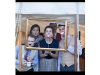 Wedding rustic homemade photobooth frame props sign