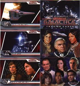 2003 COMPLETE BATTLESTAR GALACTICA 72 CARD SET W/WRAPPER