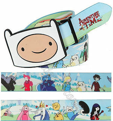 NEW Adventure Time with Finn and Jake REVERSIBLE BELT & BUCK