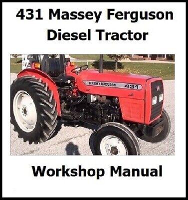 Mf431 Massey Ferguson Tractor Perkins Diesel Repair Overhaul Manual Mf431 - Nice