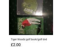 Golf tiger woods book & golf performance dvd