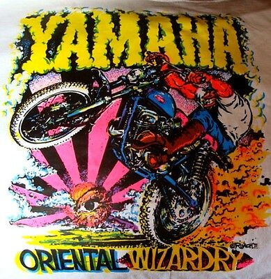 1971 Yamaha Motorcycle Iron On T Shirt Heat Transfer New Old Stock Roach No Res