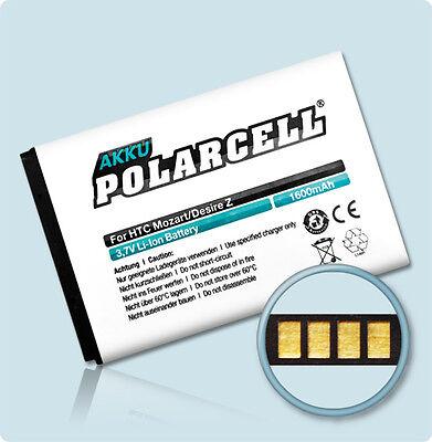 PolarCell Akku HTC Desire S & Z / 7 Mozart Incredible S BA-S450 Salsa S710e Accu