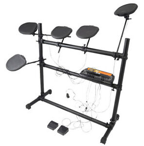 PYLE-PRO PED03 Electronic Drum Set with 5 Pads, 2 Pedals...