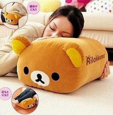 FD4725 San-X Rilakkuma Bear Multi Purpose Big Stuffed Plush Pillow Cushion ~1pc~