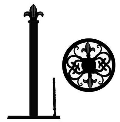 Home Basics NEW Cast Iron Strong Black Fleur De Lis Paper Towel Holder - (Fleur De Lis Paper)