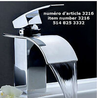 Chrome Brass Waterfall Bathroom Basin Faucet Vanity Sink Mixer T