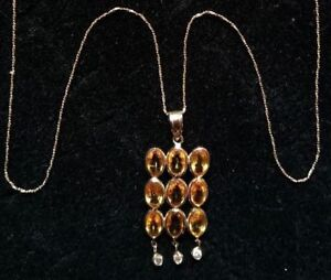 Nice and Expensive Yellow Sapphire Diamond Gold Jewelry Set