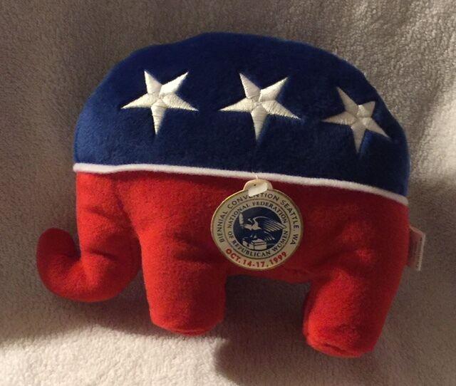 1999 National Federation of Republican Women Convention Plush Elephant