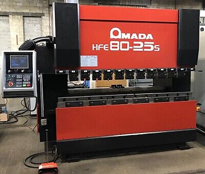 80 Ton X 8 Amada 8-axis Cnc Press Brake Cnc Control Hfe-80-25s With Tooling