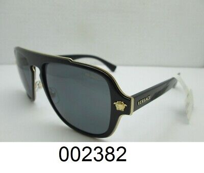 VERSACE Sunglasses Polarized VE 2199 1002/81 Black/Gold For Men Women