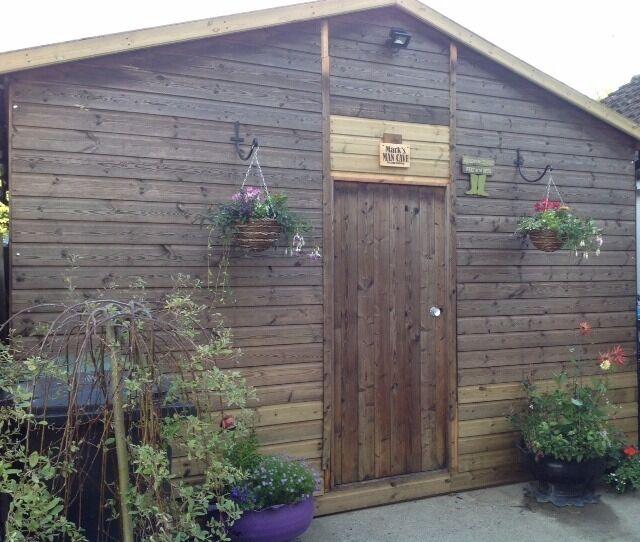 large shed workshop man cave
