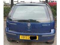Vauxhall Corsa Tailgate In Blue Breaking For Parts (2003)
