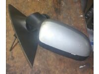 Vauxhall Corsa O/S Wing Mirror In Silver (2003)