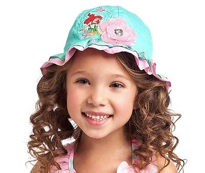 New Disney Store The Little Mermaid Ariel Swim Sun Hat Bucket Xxs/xs  Size - Little Mermaid Buckets