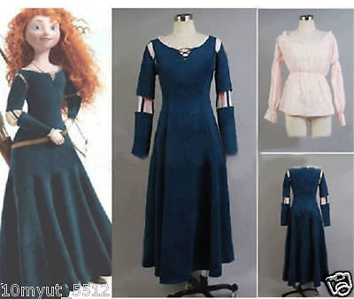 Custom Made Princess Merida Costume Dress for Brave Cosplay - Brave Costumes For Adults