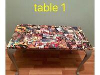 Comic book tables