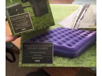 BRAND NEW IN BOX DOUBLE AIRBED AND AIR PUMP