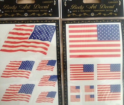 144TATTOOS LOT 4th of JULY Patriotic Party Favor TEMPORARY TATTOOS FLAGS](Patriots Tattoos)