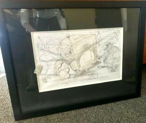 "Original Goldcrest Films Drawing from ""Rock A Doodle"" Pink"