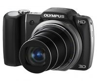 """Olympus SZ-10 (14 MP 18x WIDE ZOOM 3.0"""" HIGH RES LCD 720p HD VI)"""