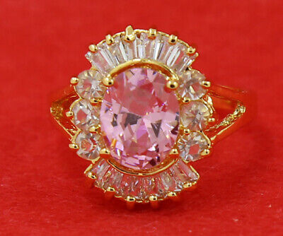 Fine 3.88ct Natural Popular Pink Diamond Ring 14KT Solid