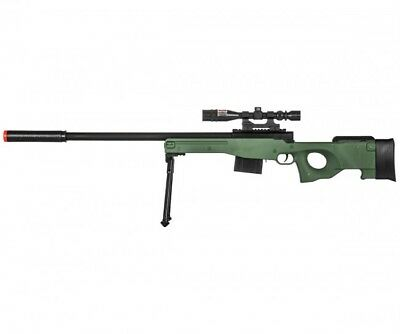 UKARMS L96 Airsoft Sniper Rifle w/ Scope, Bipod & Laser - OD Green P2703G for sale  Los Angeles