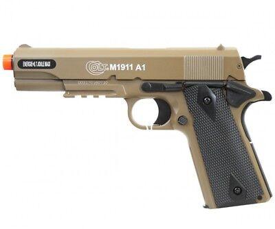 Cybergun COLT M1911 A1 Replica Airsoft Spring Pistol with Metal Slide Tan 180129