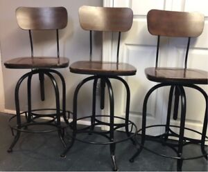 Wood and Metal Bar Stools $240. for all 3