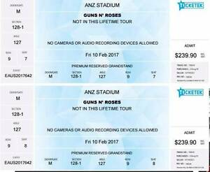 Guns 'N Roses - 2 tickets Premium Grandstand Fri 10 Feb Pyrmont Inner Sydney Preview