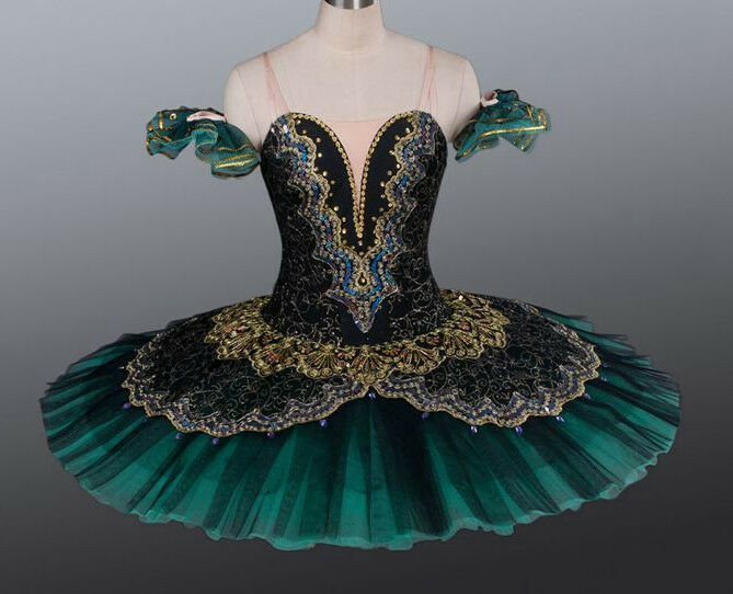 Professional Deep Green Ballet Tutu Costume Gypsy Esmeralda YAGP MTO Custom Fit