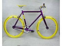 Aluminium single speed fixed gear fixie bike/ road bike/ bicycles + 1year warranty & free service f2
