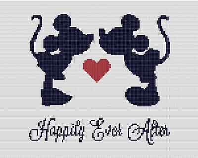 Counted Cross Stitch Pattern or Kit, Disney, Mickey and Minnie Wedding, Love