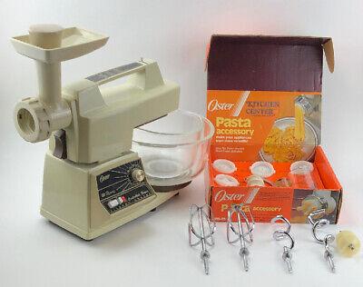 Vintage Oster Kitchen Center With Lg & Sm Bowl / Pasta Attachment CLEAN