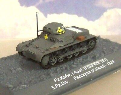 1/72 Alemán WWII Tanque Pz.kpfw.i Ausf.b (SD.KFZ.101) 5TH. Panzer Div. Polonia