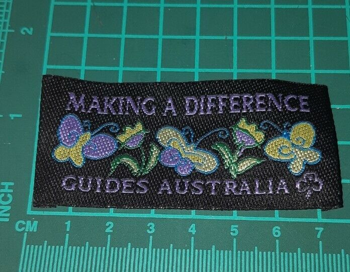 Making a difference Girl Guides Australia Badge.
