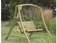 Outdoor Wooden Swing Seat
