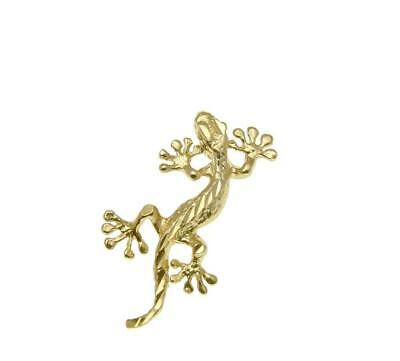 14k Yellow Gold Gecko (SOLID 14K YELLOW GOLD HAWAIIAN DIAMOND CUT GECKO LIZARD CHARM PENDANT SMALL )