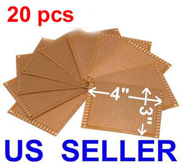 "TWENTY 20 pcs 3x4"" (7x9cm) PCB Printed Circuit Board Prototype Breadboard"
