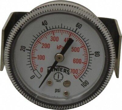 Winters 2 Dial 18 Thread 0-100 Scale Range Pressure Gauge U-clamp Panel ...